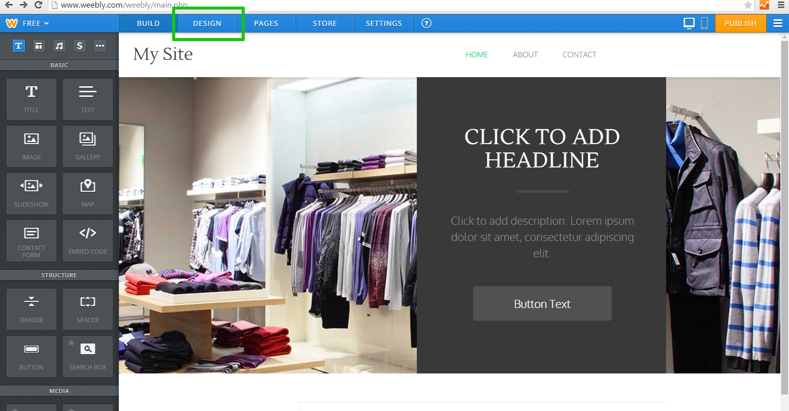 how to give weebly header code and footer code