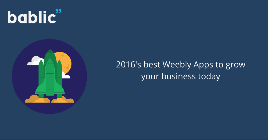 Best Weebly Apps