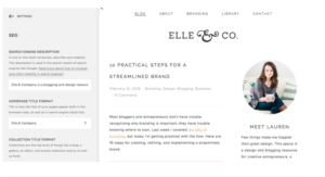 Elle and Company's website screenshot