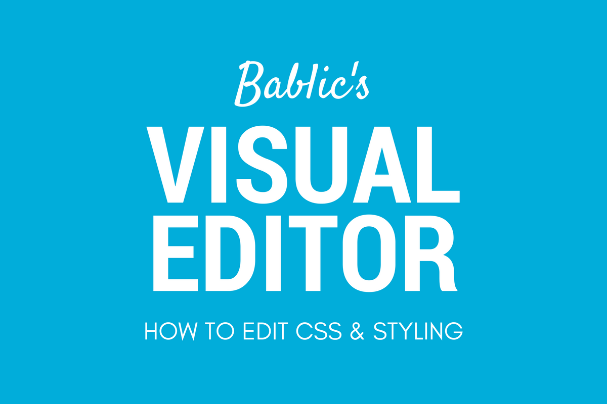 CSS and Styling - Bablic Visual Editor