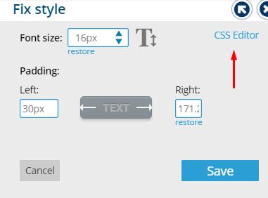 Click on CSS Editor Link - Bablic Visual Editor