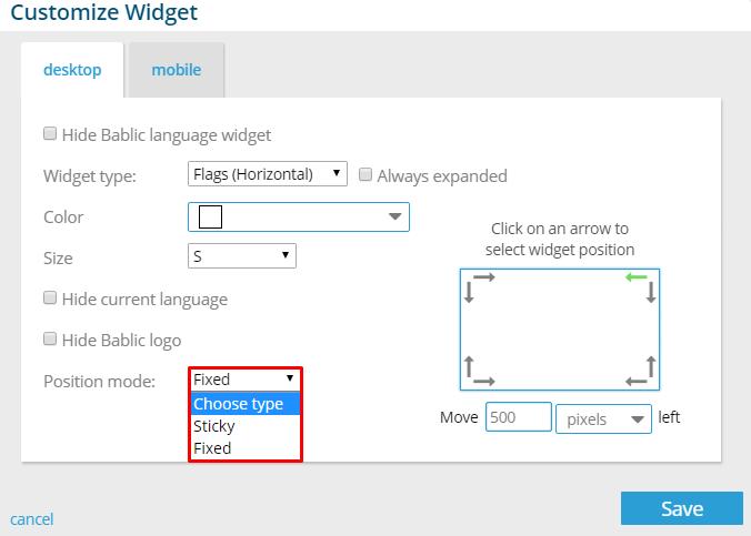 Position Mode - Bablic Visual Editor
