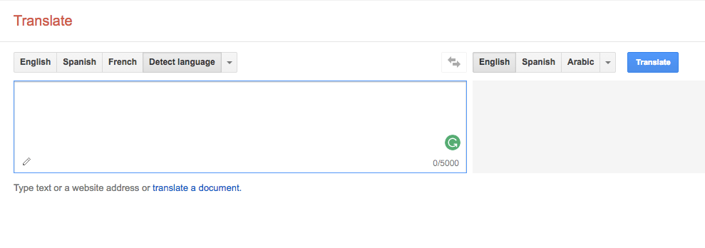 Google Translate - website translation tools