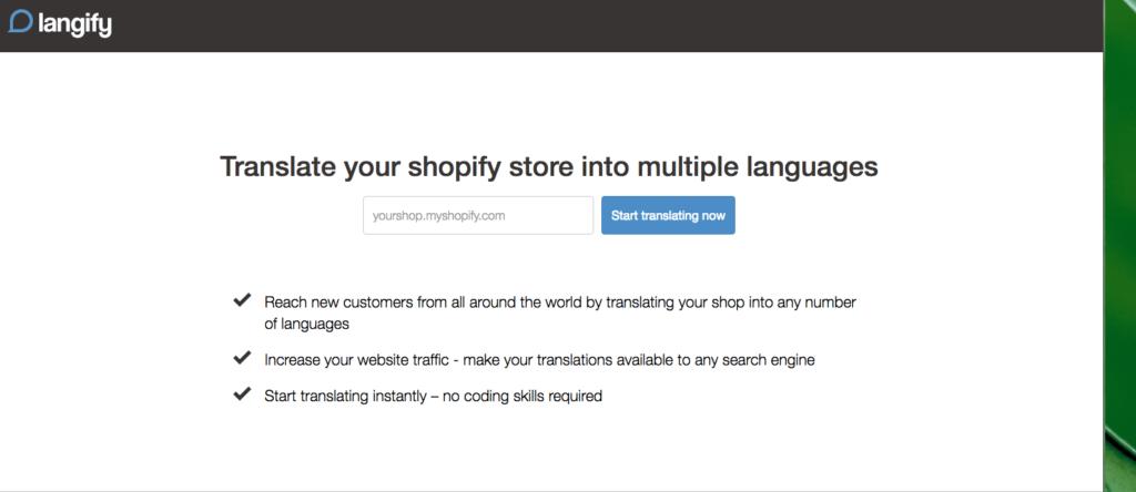 langify web translation app